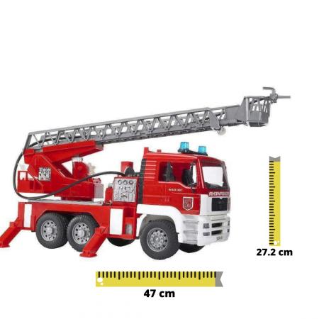 Jucarie Camion de pompieri  MAN TGA, cu pompa de apa si modul de lumini si sunet. Dimensiuni 47 x 17.5 x 24.2 cm [0]