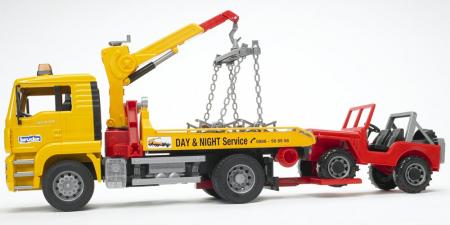 Camion de tractare MAN TGA cu vehicul de teren - 49,5 x 18,5 x 25,5 cm2