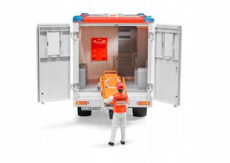Jucarie Duba MB Sprinter ambulanta cu sofer - 45,5 x 17 x 22 cm3