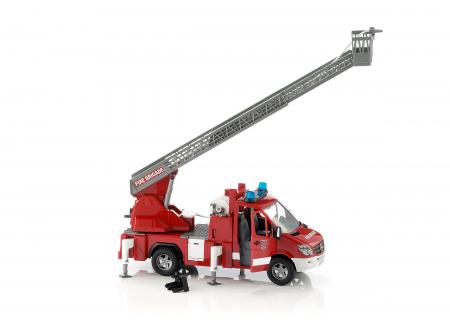 Jucarie Duba MB Sprinter, masina de pompieri cu pompa de apa + modul de lumini si sunet - 45 x 17.2 x 21.8 cm3