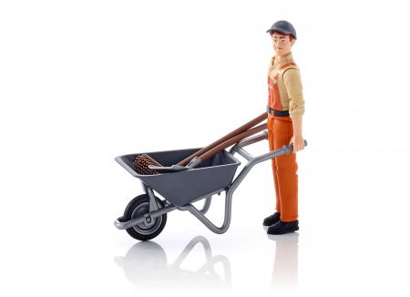 Jucarie figurina muncitor municipal, cu accesorii - inaltime 10,7 cm1