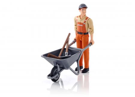 Jucarie figurina muncitor municipal, cu accesorii - inaltime 10,7 cm0