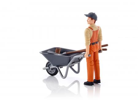 Jucarie figurina muncitor municipal, cu accesorii - inaltime 10,7 cm2