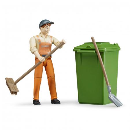 Jucarie figurina om de servicii, cu accesorii - aproximativ 11 cm2