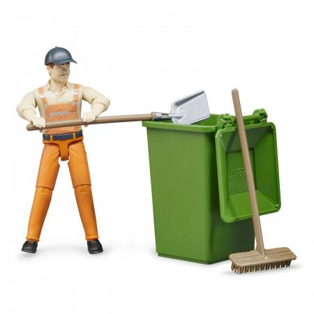 Jucarie figurina om de servicii, cu accesorii - aproximativ 11 cm0