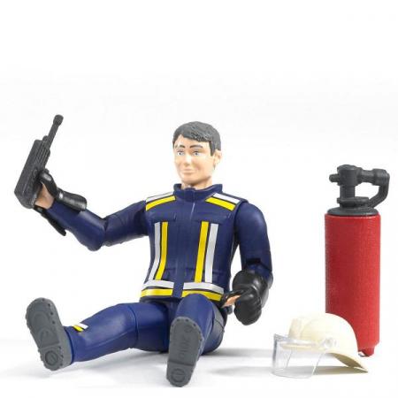 Figurina pompier, cu accesorii - inaltime 10,7 cm1