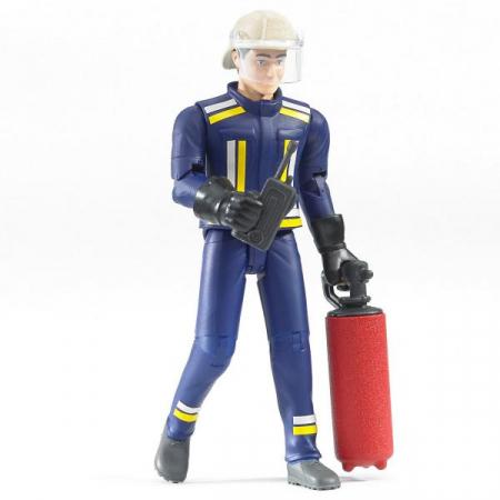 Figurina pompier, cu accesorii - inaltime 10,7 cm0