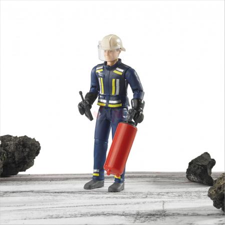 Figurina pompier, cu accesorii - inaltime 10,7 cm2
