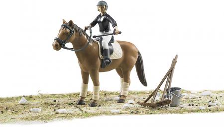 Jucarie figurina set de calarit - inaltime 10,7 cm, cal lungime 17,2 cm3