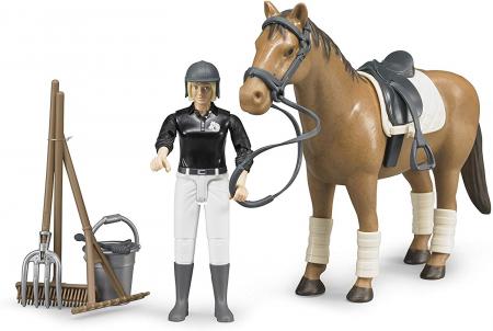 Jucarie figurina set de calarit - inaltime 10,7 cm, cal lungime 17,2 cm2