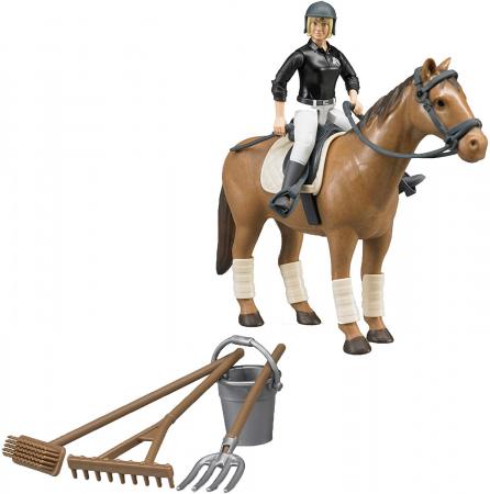 Jucarie figurina set de calarit - inaltime 10,7 cm, cal lungime 17,2 cm0