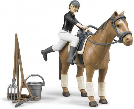 Jucarie figurina set de calarit - inaltime 10,7 cm, cal lungime 17,2 cm1