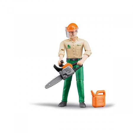 Jucarie figurina taietor de lemne cu accesorii. Dimensiuni inaltime 10,7 cm0