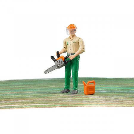 Jucarie figurina taietor de lemne cu accesorii. Dimensiuni inaltime 10,7 cm1