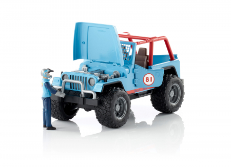 Jucarie Jeep Cross Country racer albastru + figurina pilot - 29.5 x 15 x 15 cm1