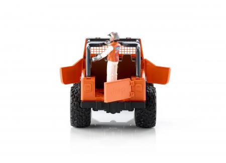 Jucarie Jeep Cross Country Racer portocaliu + figurina pilot - 29.5 x 15 x 15 cm3