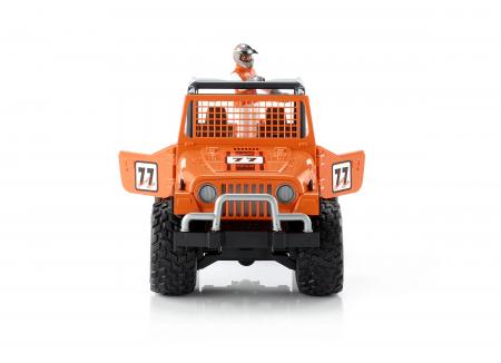 Jucarie Jeep Cross Country Racer portocaliu + figurina pilot - 29.5 x 15 x 15 cm0
