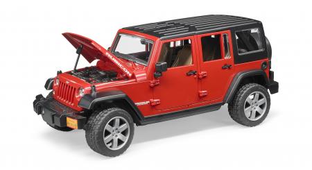 Jucarie Jeep Wrangler rosu Unlimited Rubicon Bruder [2]