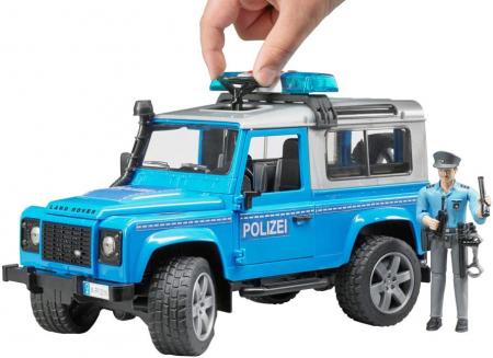 Jeep Land Rover Defender masina de politie+ modul de lumini si sunet + figurina politist - 28 x 13.8 x 15.3 cm4