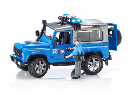 Jeep Land Rover Defender masina de politie+ modul de lumini si sunet + figurina politist - 28 x 13.8 x 15.3 cm1