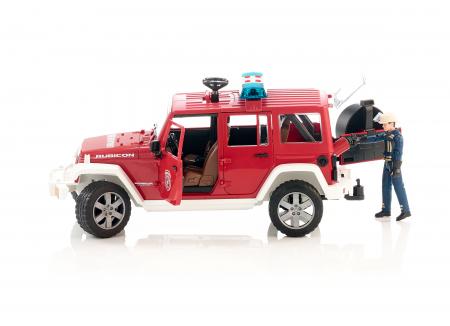 Jucarie Jeep Wrangler vehicul de pompieri cu figurinta pompier - 32.8 x 14.4 x 16.2 cm1
