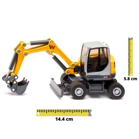 Jucarie macheta excavator mobil Wacker Neuson EW65, Siku [0]