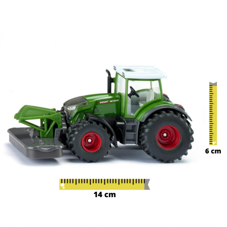 Jucarie macheta tractor Fendt 2020 942 Vario cu cositoare frontala, Siku [0]