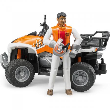Jucarie Moto ATV cu pilot Bruder - 16 x 9,3 x 9,3 cm2