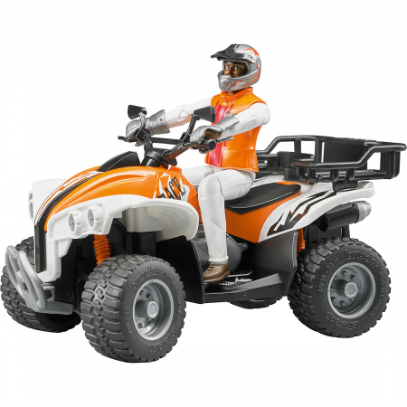 Jucarie Moto ATV cu pilot Bruder - 16 x 9,3 x 9,3 cm0