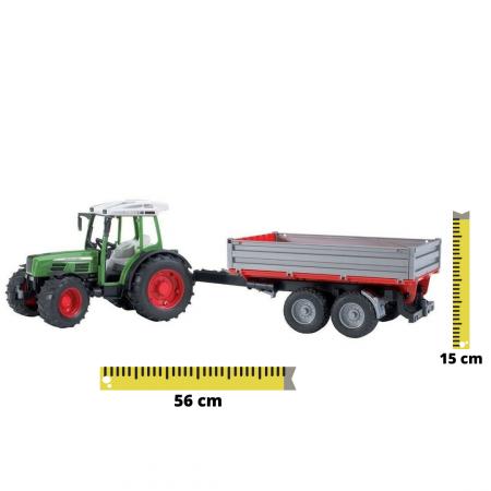 Jucarie Tractor Fendt209 S verde cu remorca basculabila, Bruder [0]