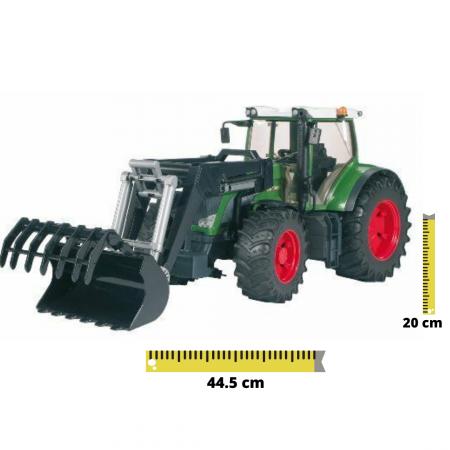 Jucarie Tractor Fendt 936 verde cu incarcator frontal, Bruder [0]