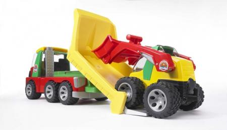 Jucarie Roadmax 2+ , Camion transportor cu mini excavator.  42 x 18 x 23.5 cm3