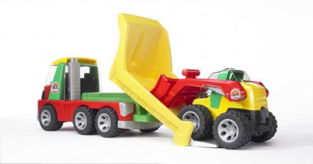 Jucarie Roadmax 2+ , Camion transportor cu mini excavator.  42 x 18 x 23.5 cm2