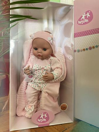Papusa handmade bebelus fata Arrullo Rosa, colectia New Born Special - 45cm1