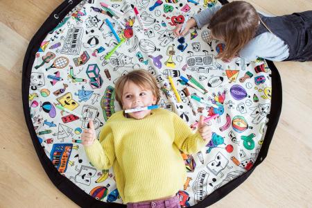 Patura de joaca 3 in1 Play&Go suprafata de colorat, Omy Paris0