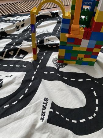Patura de joaca 3 in1 Play&Go Print harta cu drumuri7