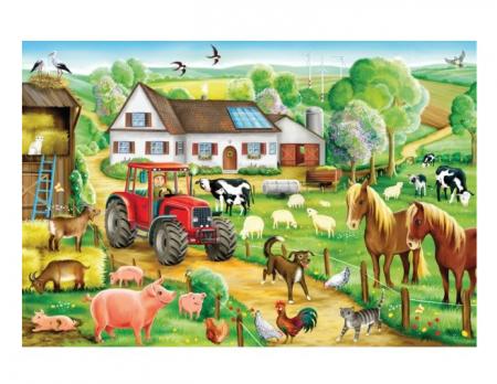 Puzzle Happy Farm Schmidt - 36,1 x 24,3 cm0