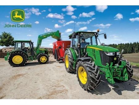 Puzzle tractoare John Deere seria M. Schmidt Puzzle + Jucarie tractor inclusa - 36,1 x 24,3 cm0