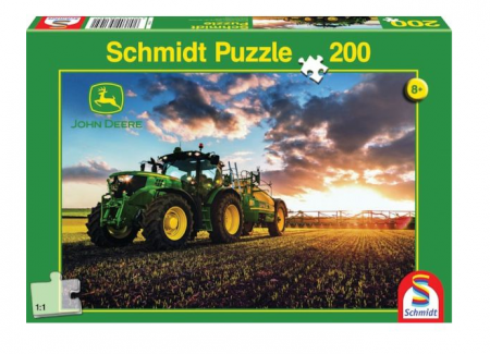 Puzzle tractor John Deere 6150R - 43 x 29,1 cm0