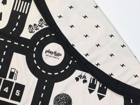 Patura de joaca 3 in1 Play&Go Print harta cu drumuri3