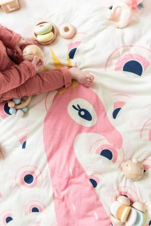 Saltea de joaca bebe 3 in 1 Play&Go cu print Paun colorat1