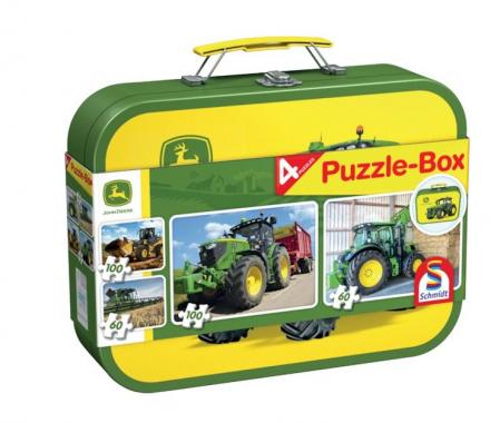 Set 4 puzzle agriculture John Deere, Schmidt - 36,1 x 24,3 cm1