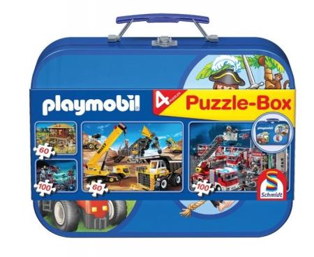 Set 4 puzzle tematice în cutie metalică Schmidt puzzle - 36,1 x 24,3 cm0