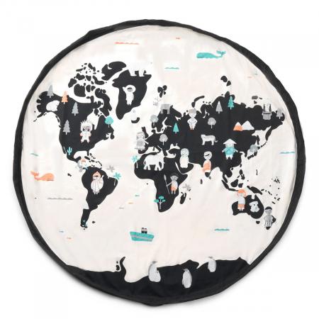 Patura de joaca 3 in 1 Print Harta Lumii1