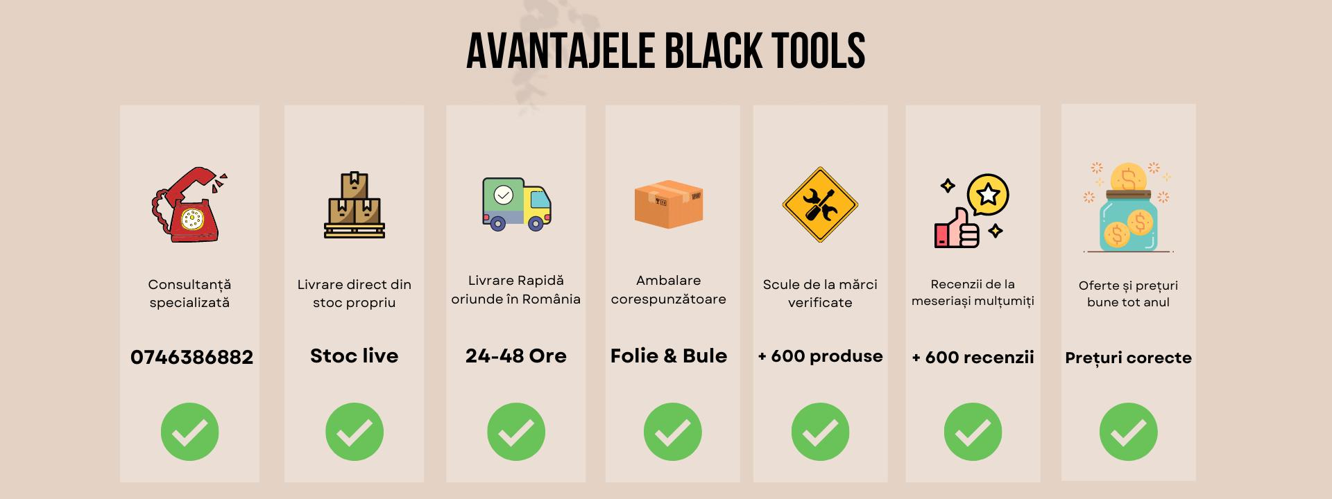 Avantajele black tools