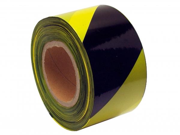 Banda semnalizare galben-negru 250 m 0