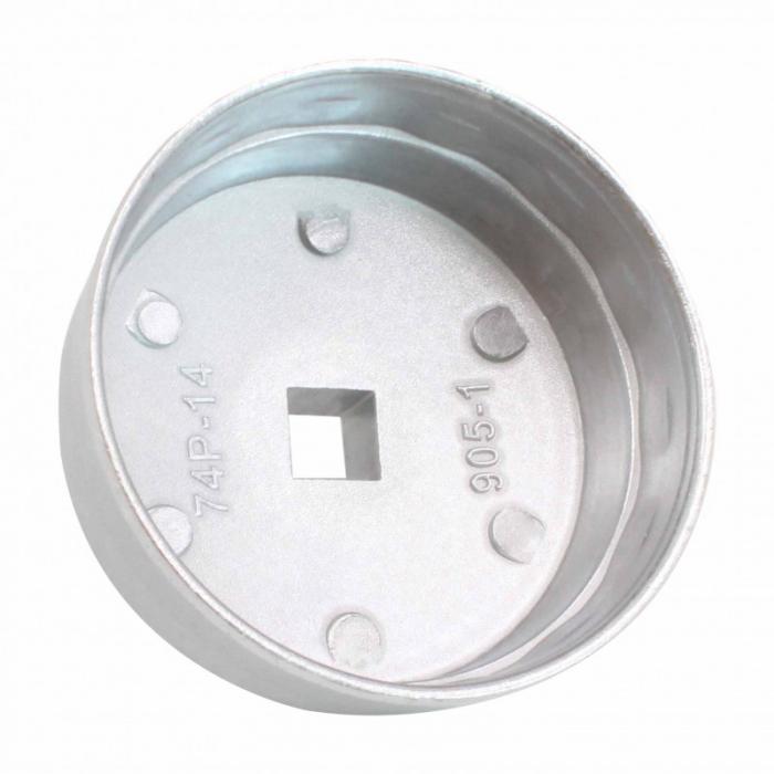 Cheie filtru ulei 74mm 12 laturi 1/2 [2]