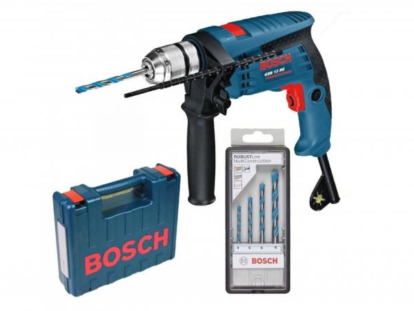 Masina gaurit 600W + Set accesorii Bosch 0