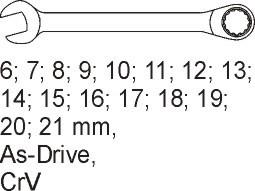 Modul chei combinate 6-21MM 1