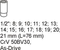 Modul tubulare 1/2 8-21mm 1